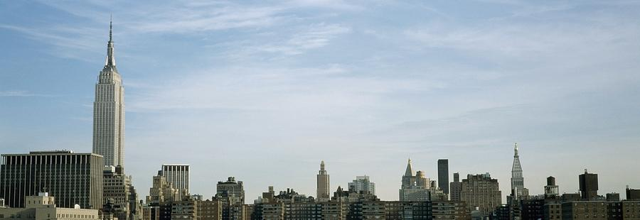 No People Photograph - New York City Skyline by Axiom Photographic