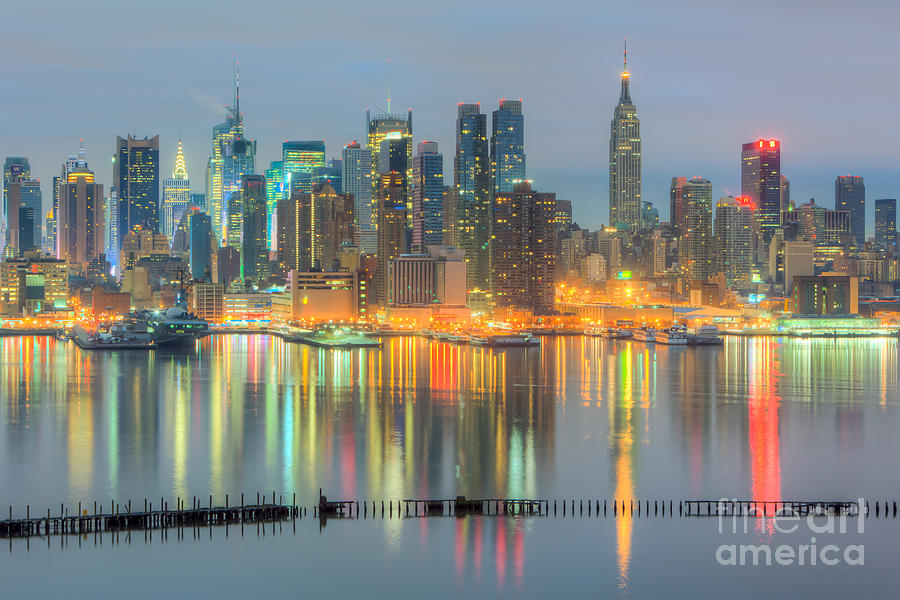 New York City Skyline Morning Twilight I Photograph By