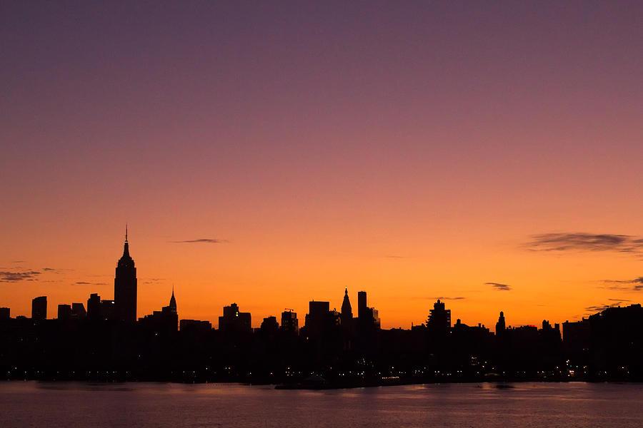 New York City Skyline Sunrise Photograph By Stephanie Mcdowell