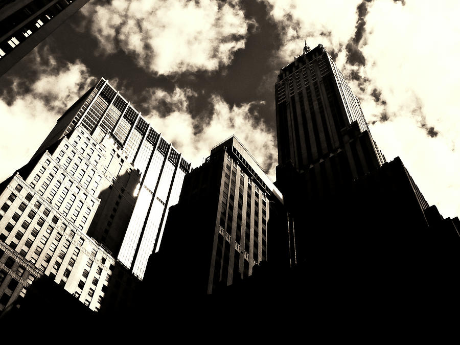 Nyc Photograph - New York City Skyscrapers by Vivienne Gucwa