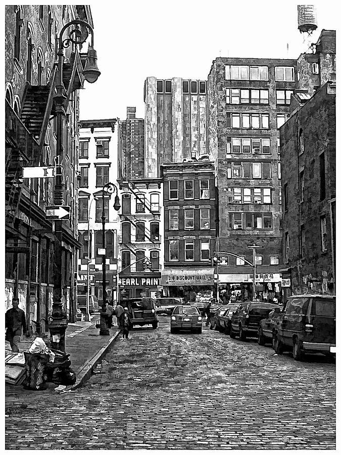 B&w Photograph - New York City Street Scene by Scott Massey