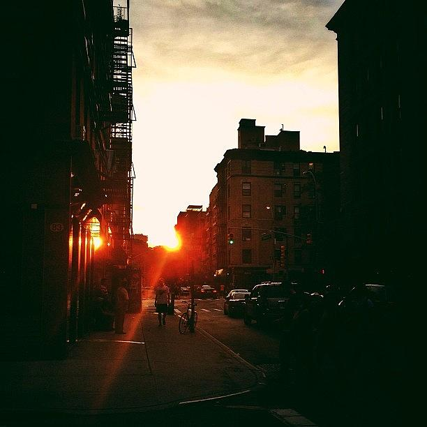 New York City Photograph - New York City Sunset by Vivienne Gucwa