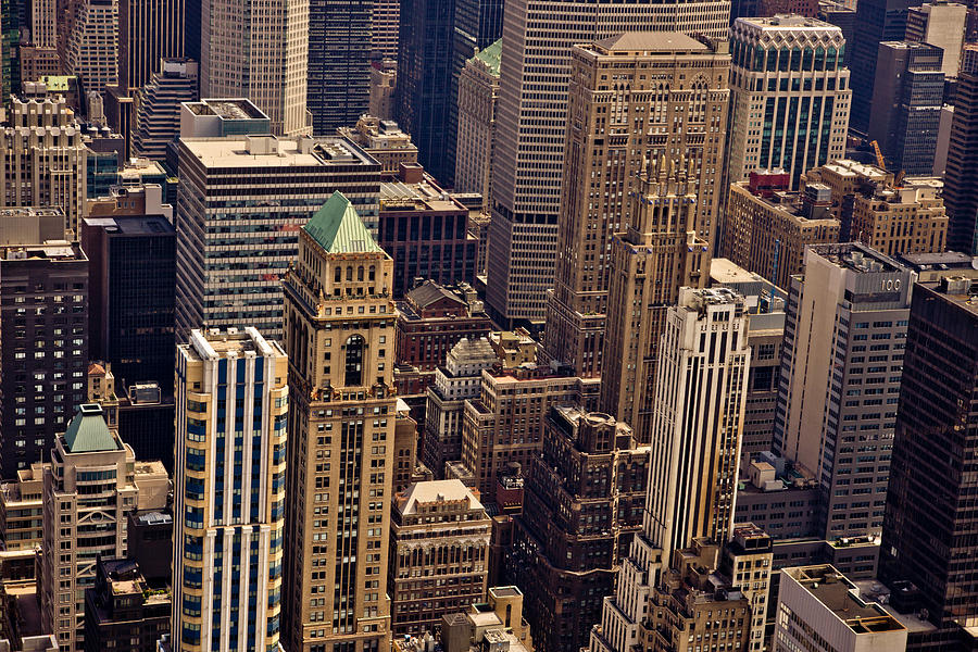 New York City Photograph - New York City Urban Landscape by Vivienne Gucwa