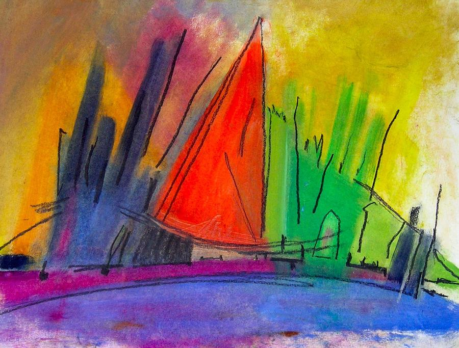 Cityscape Painting - New York Harbor by Simi Berman