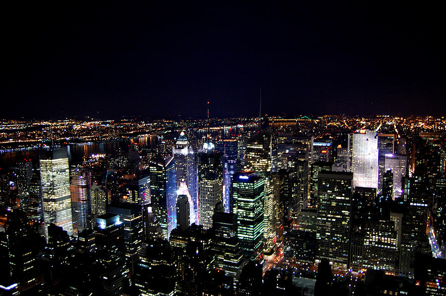 Charming New York Photograph   New York Lights By Simon Clare Great Ideas