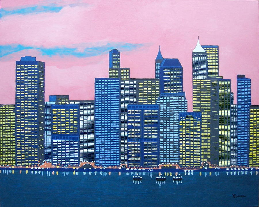 New York Painting - New York New York by Eamon Reilly