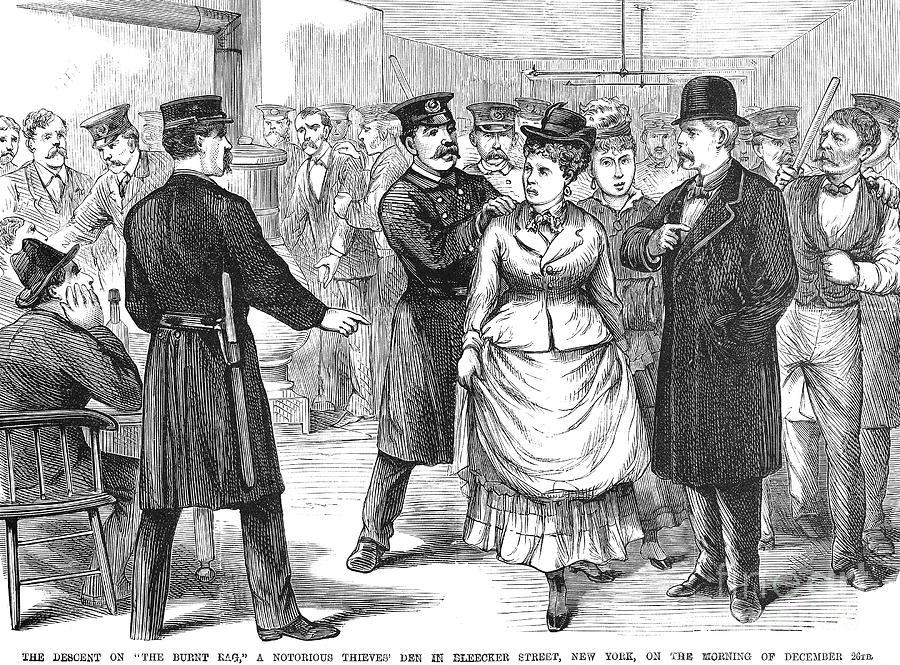 1875 Photograph - New York Police Raid, 1875 by Granger