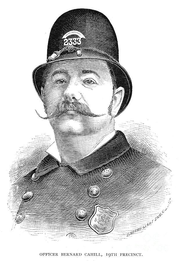 1885 Photograph - New York Policeman, 1885 by Granger