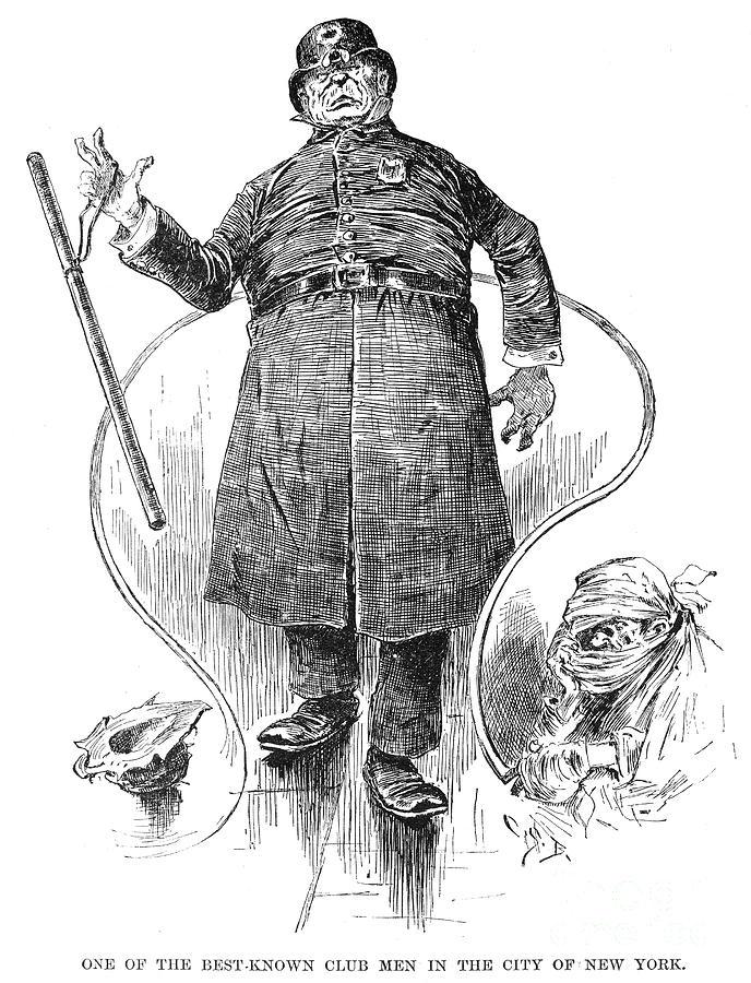 1890 Photograph - New York Policeman, 1890 by Granger