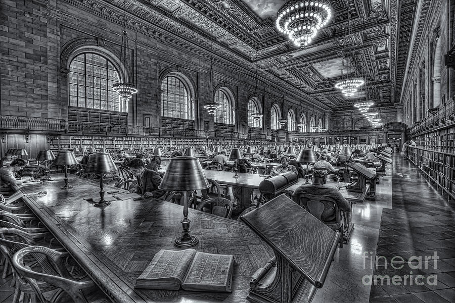 America Photograph - New York Public Library Main Reading Room Vi by Clarence Holmes