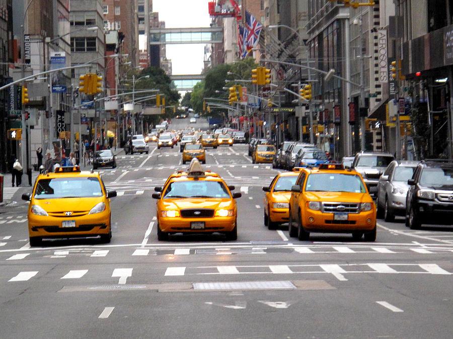 New York Cab Photograph - New York Ride by Anthony Chia-bradley