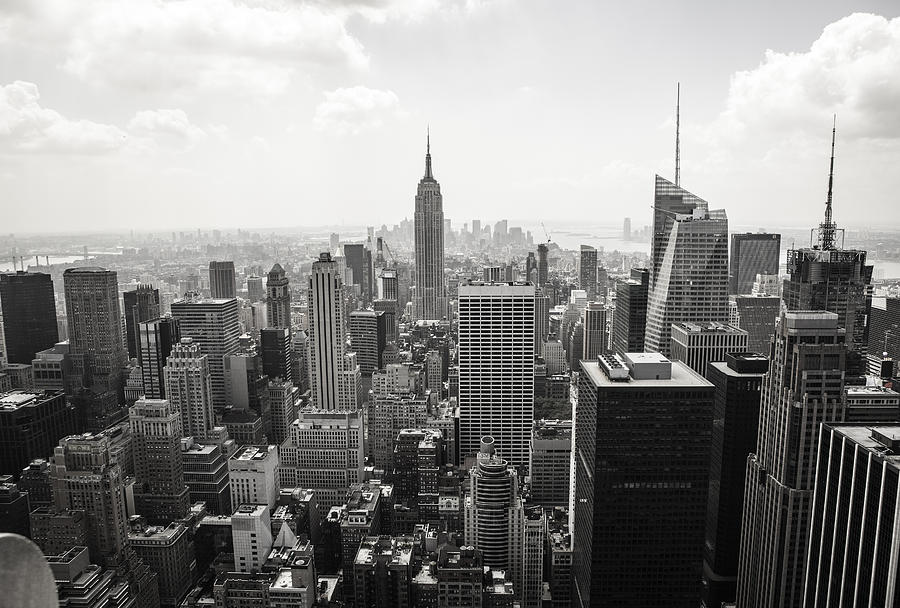 Horizontal photograph new york skyline by luis alvarez