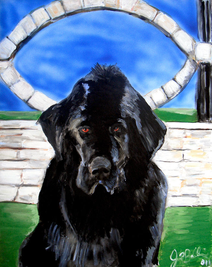 Dog Painting - Newfoundland by Jon Baldwin  Art