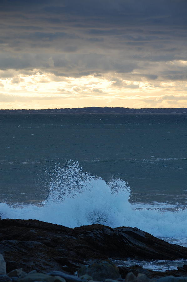 Pure Photograph - Newport Evening Waves by Dickon Thompson