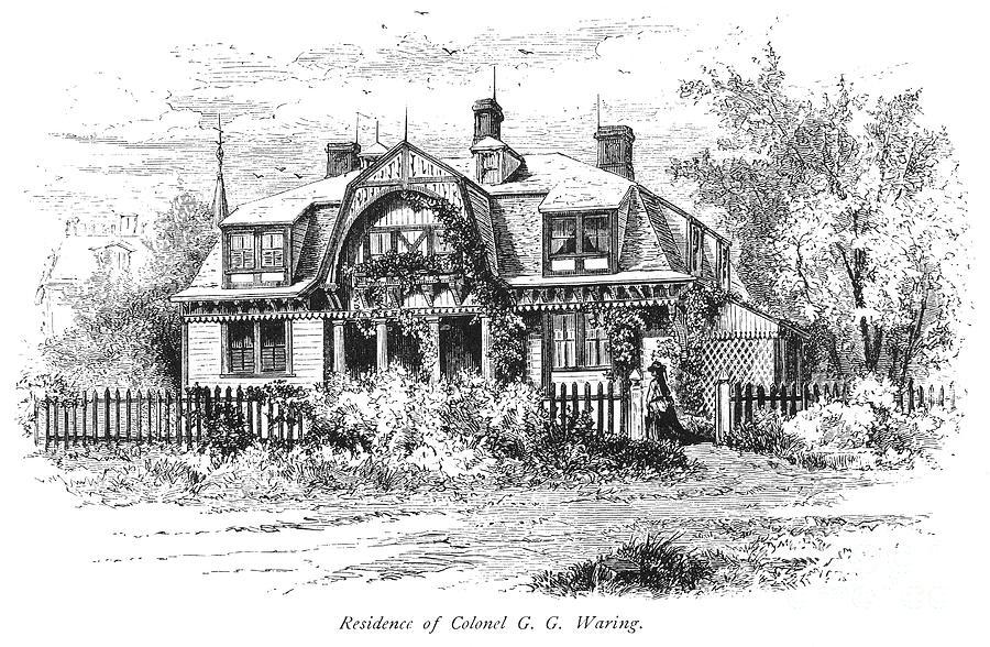 1876 Photograph - Newport: Villa, C1876 by Granger