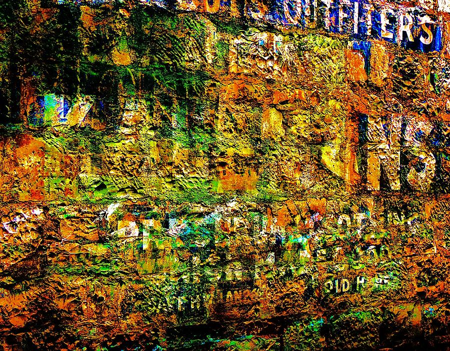 Stone Wall Photograph - News Of The Day by Helen Carson