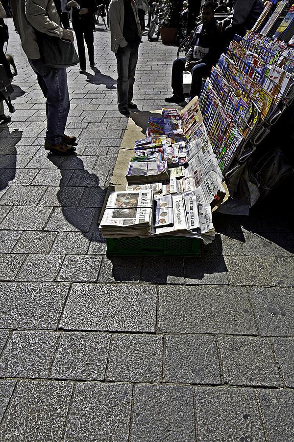 Newspaper Stand - Vienna by Madeline Ellis