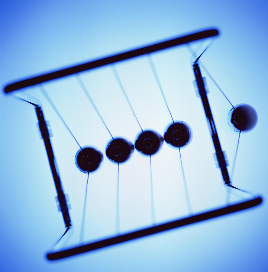Pendulum Photograph - Newtons Cradle by Kevin Curtis