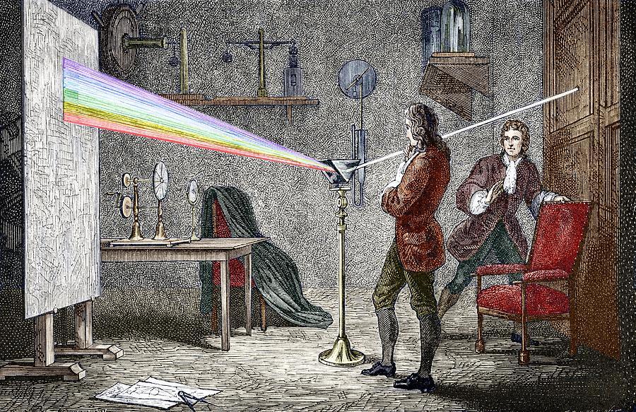 Isaac Newton Photograph - Newtons Optics by Sheila Terry