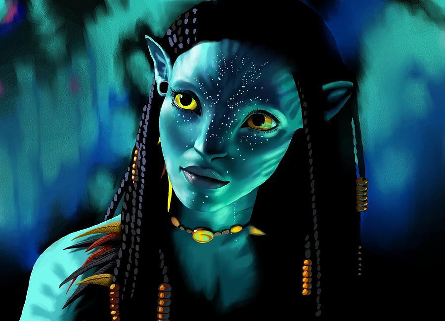 Avatar Digital Art - Neytiri by Laura Steelman