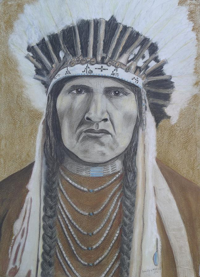 Native Painting - Nez Perce American Native Indian by David Hawkes