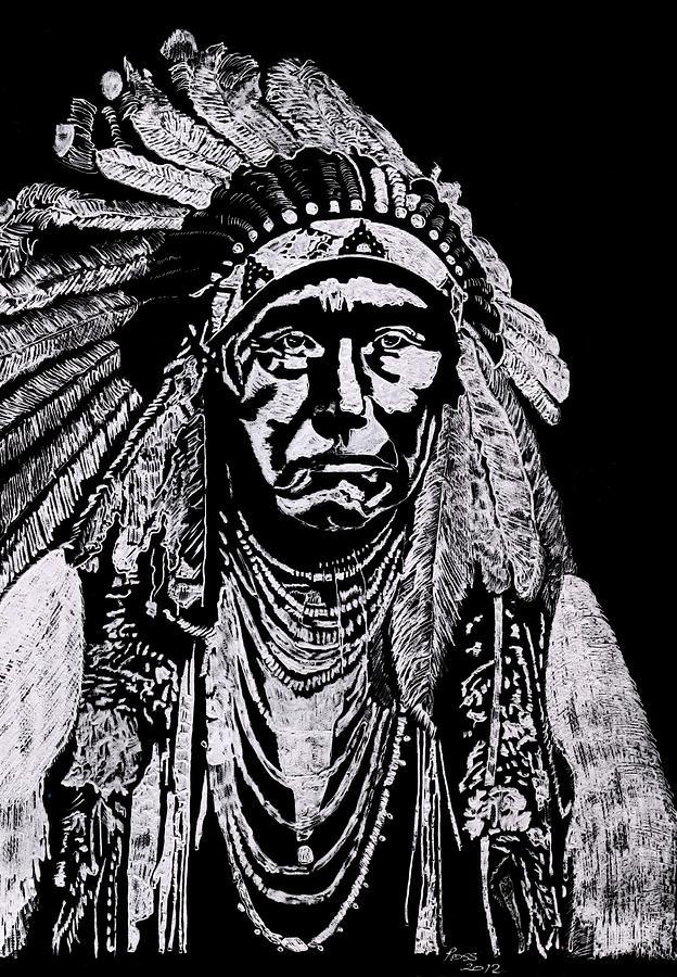 Chieftain Sculpture - Nez Perce by Jim Ross