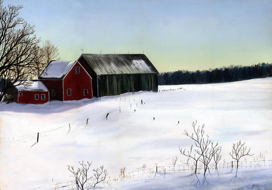 N.H. Barn Winter by Paul Gardner