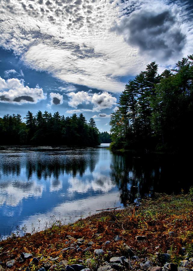 Lake Photograph - NH Lake 2 by Edward Myers