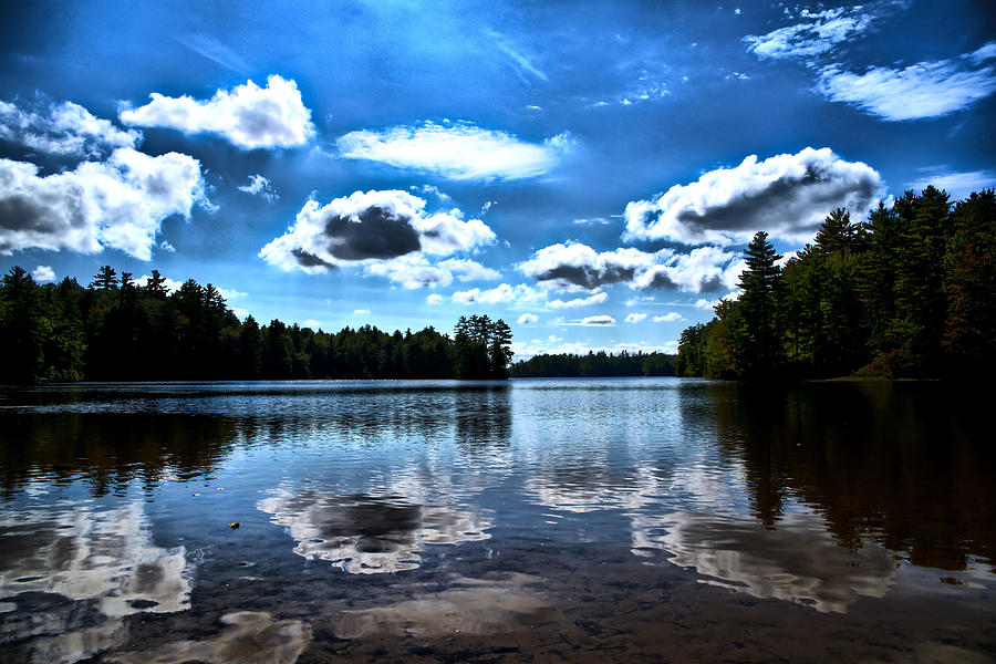 Lake Photograph - NH Lake 4 by Edward Myers