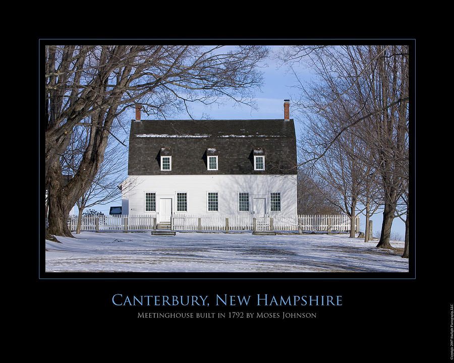 New Hampshire Photograph - Nh Meetinghouse by Jim McDonald Photography