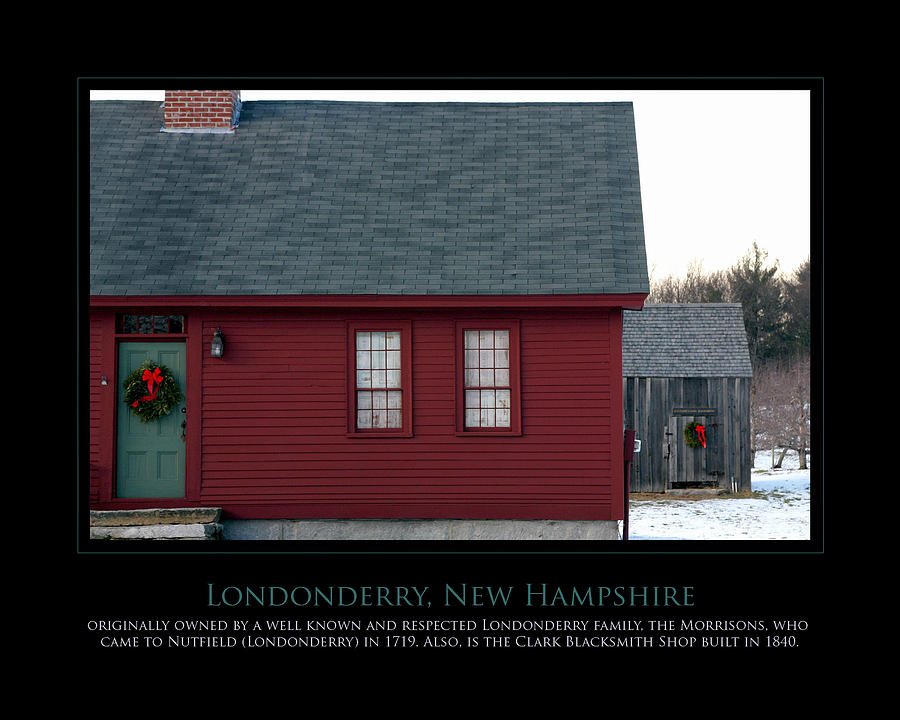 Londonderry Photograph - Nh Old Homes by Jim McDonald Photography