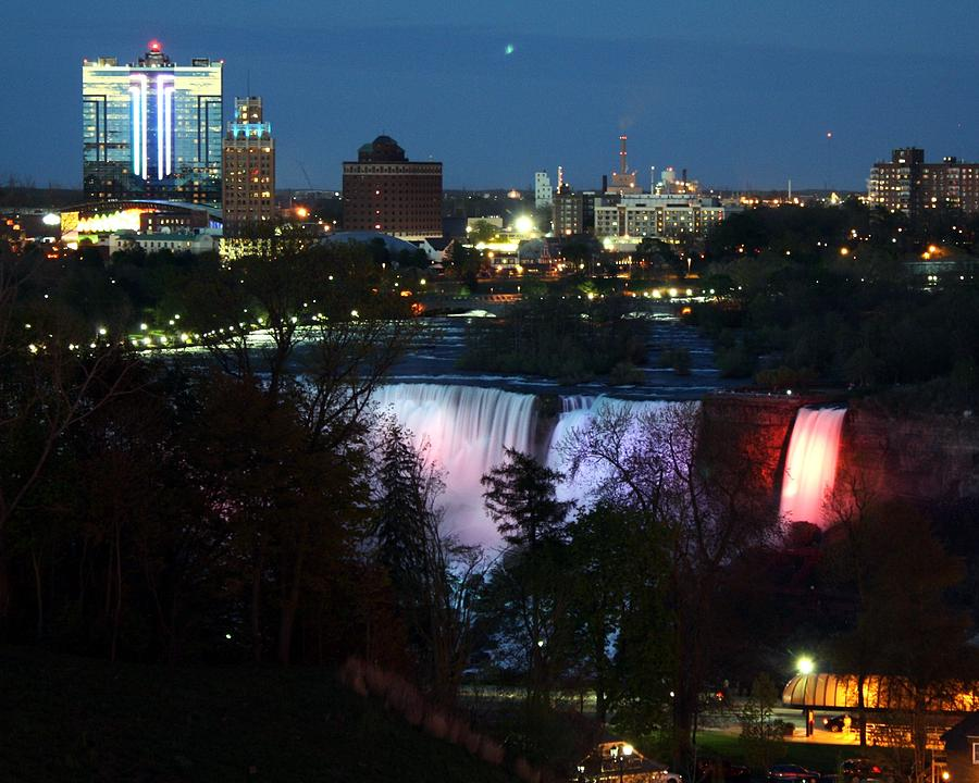 Niagara Photograph - Niagara Falls Ny At Night by David Gilman