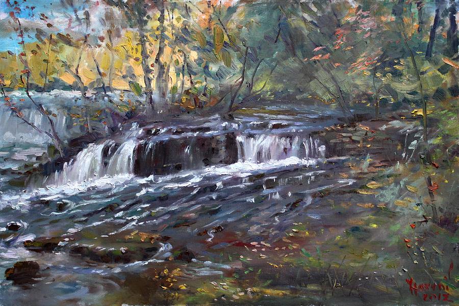Niagara Falls Painting - Niagara Falls River by Ylli Haruni