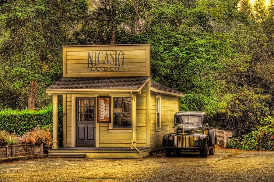 Old Truck Photograph - Nicasio Land Office by John Klingel