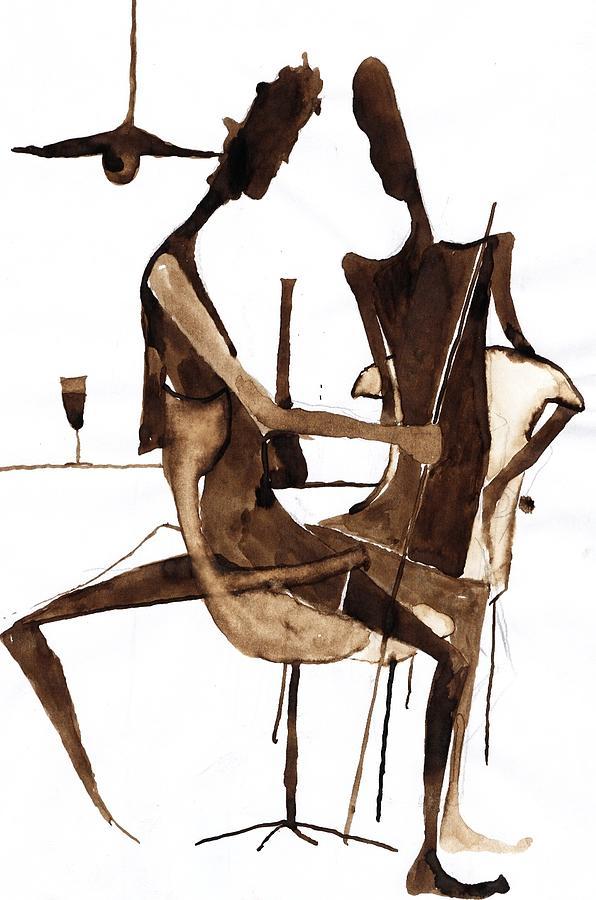Meeting Drawing - Nice Evening by Maya Manolova