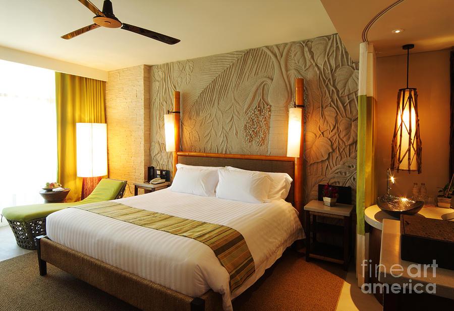 Hotel Photograph - Nice Hotel-room by Atiketta Sangasaeng
