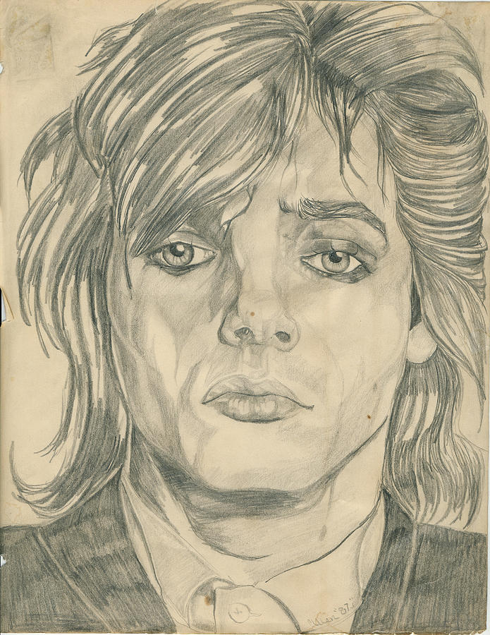 Nick Rhodes Drawing - Nick Rhodes by Allen Walters