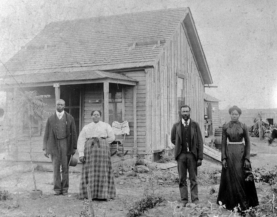 Nicodemus, Kansas. A Colony Of Free Photograph by Everett