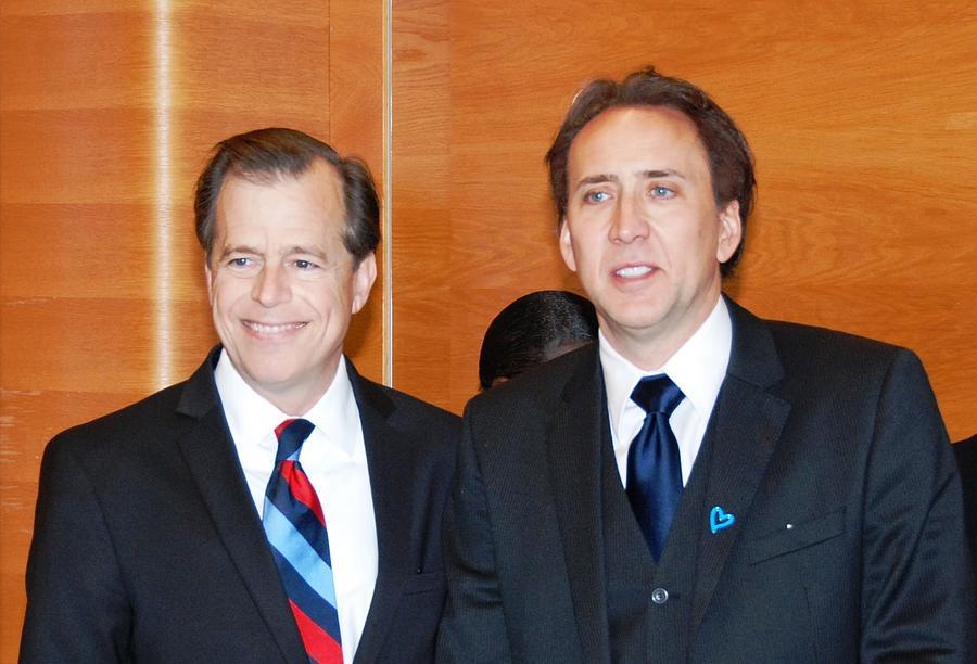 History Photograph - Nicolas Cage Goodwill Ambassador by Everett