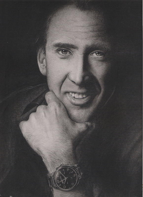 Pencil Drawing Drawing - Nicolas Cage by Sucheol Kong
