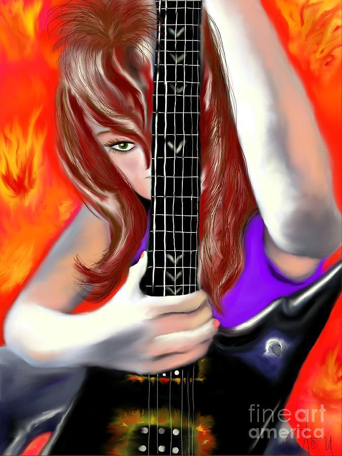 Girl Painting - Nicole  by Lori  Lovetere