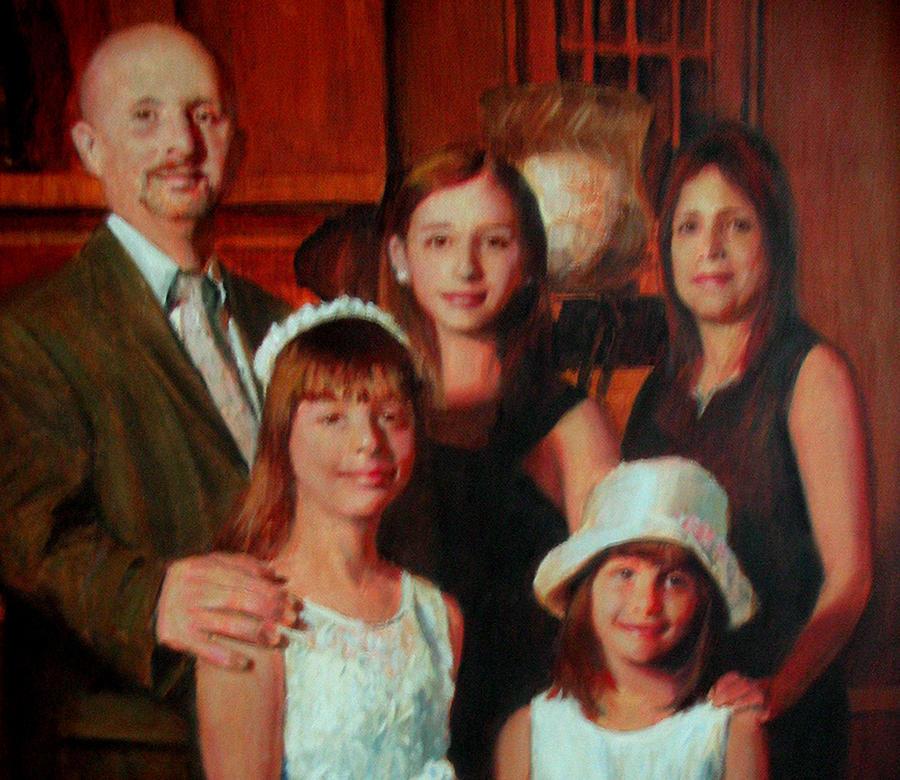 Portraits Painting - Nieves Family Portrait by Berto Ortega