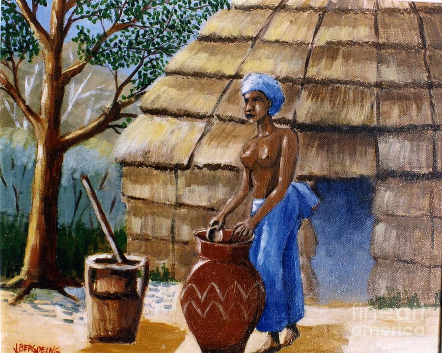 Niger Woman Painting by Jean Pierre Bergoeing