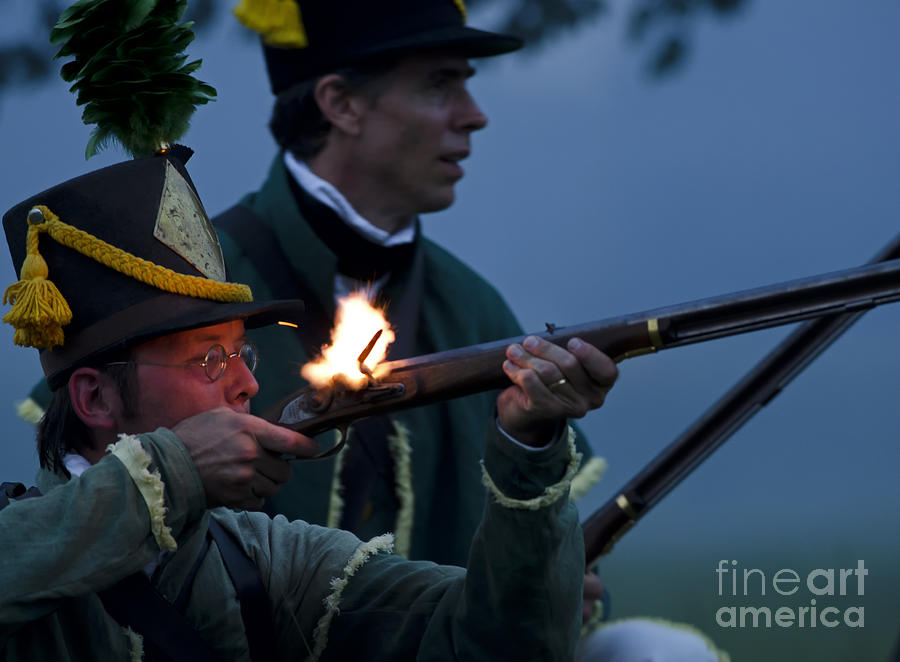 War Of 1812 Photograph - Night Battle by JT Lewis