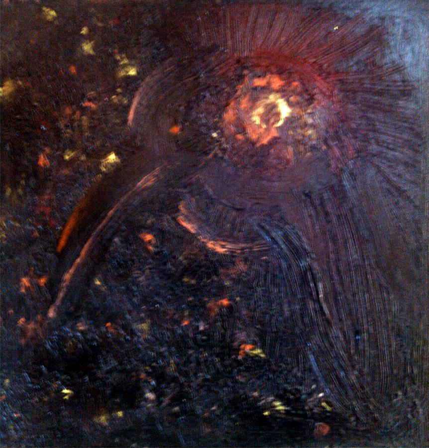 Night Bird Painting by Branko Jovanovic