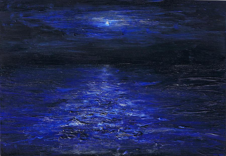 Night Painting - Night Crossing by Regina Valluzzi