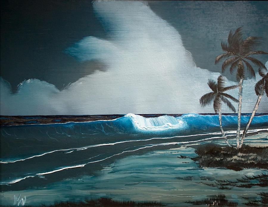 Hawaii Painting - Night Dream by Karen Nicholson