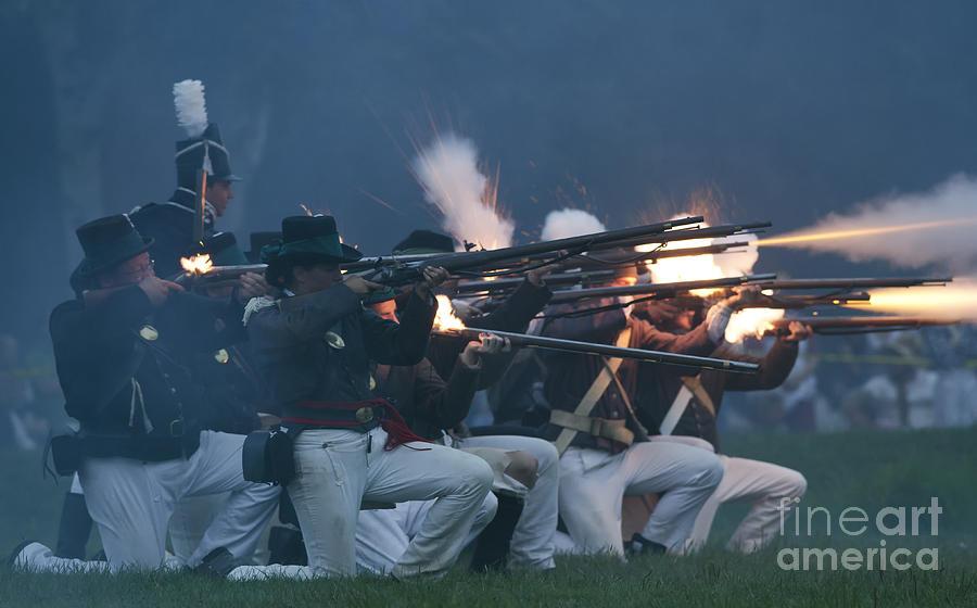 War Of 1812 Photograph - Night Firing by JT Lewis
