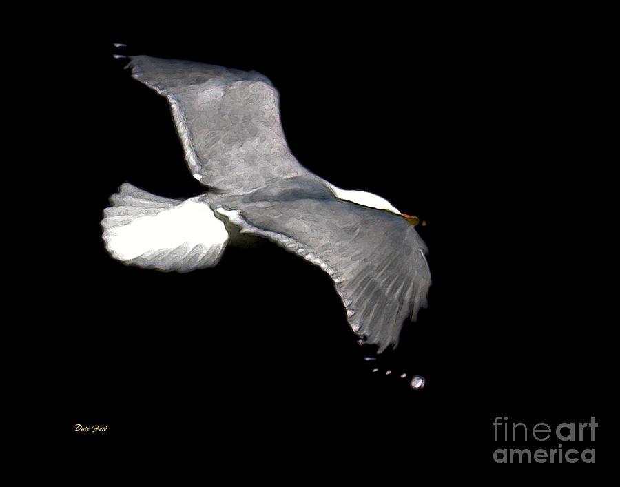 Bird Digital Art - Night Flight by Dale   Ford