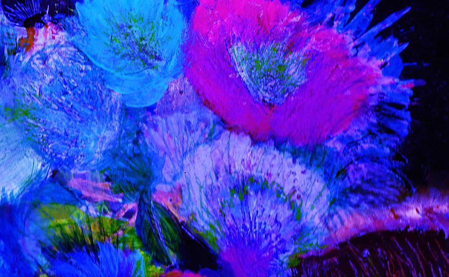 Flowers Painting - Night Flowers by Anne-Elizabeth Whiteway